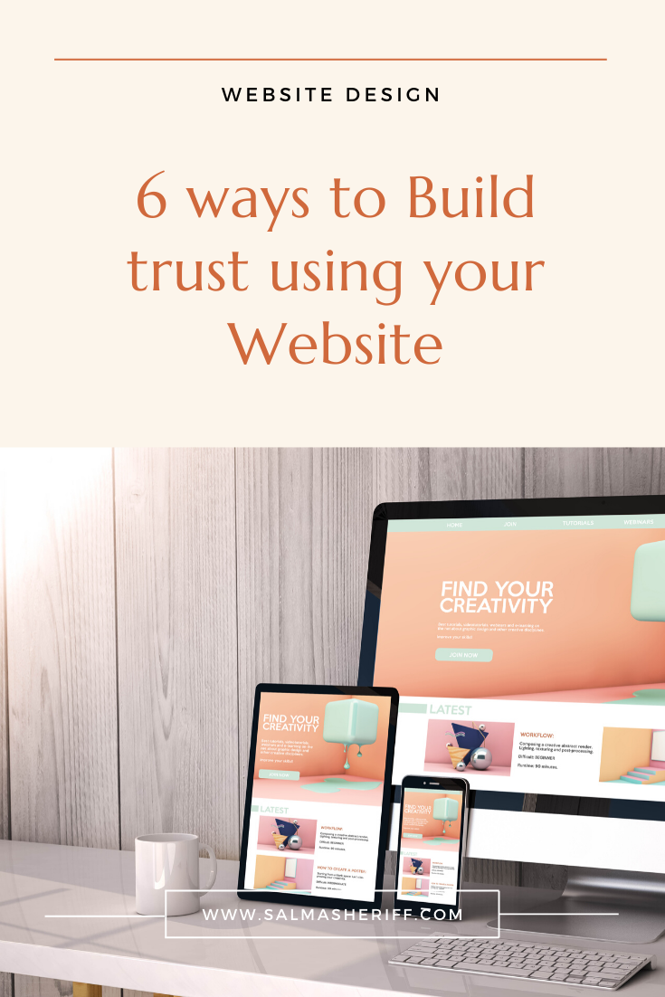 6 ways to Build trust using your Website