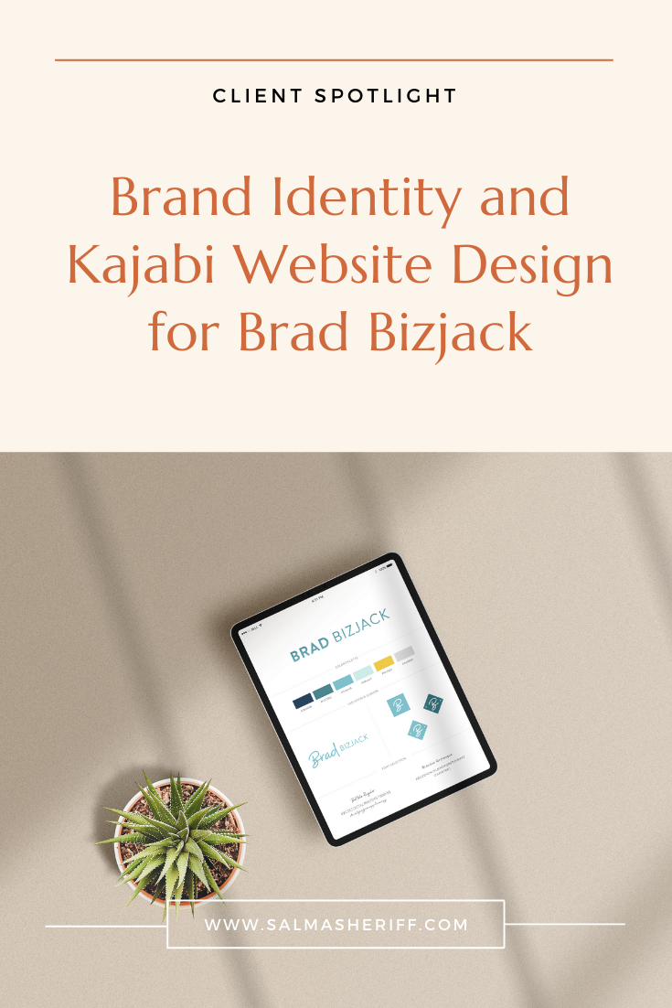 Brand Identity and Kajabi Website Design for Brad Bizjack