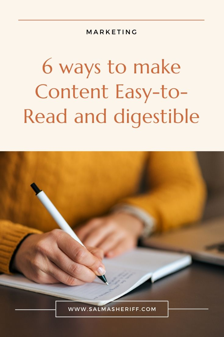 6 ways to make Content Easy to Read and digestible